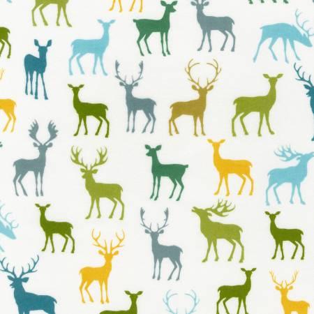 Robert Kaufman Cozy Outdoors Flannel 20444-268 Deer Nature
