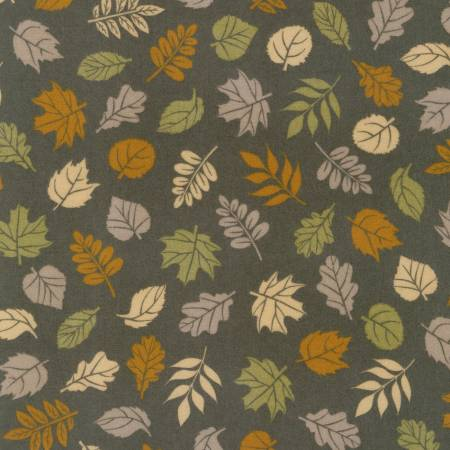 Robert Kaufman Cozy Outdoors Flannel 20445-160 Leaves Taupe