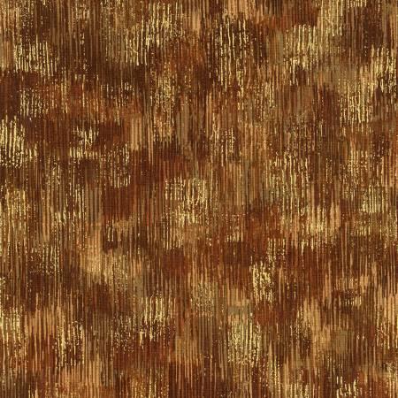 Brown Brushstrokes w/Metallic
