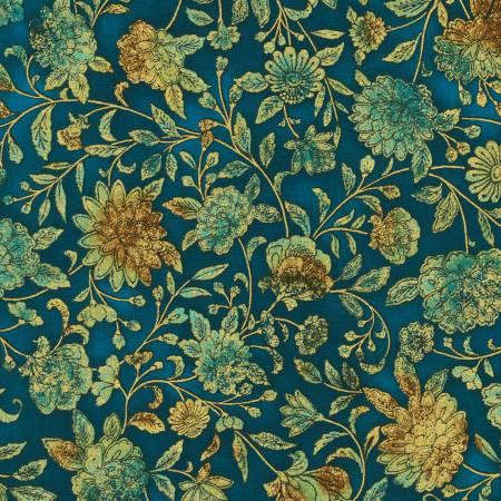 Fiorella Teal Floral w/Metallic SRKM19549213