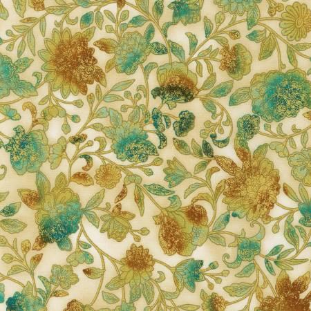 Fiorella Parchment Floral w/Metallic SRKM19549265