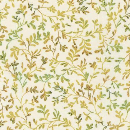 Natural Vines w/Metallic - Fiorella by Robert Kaufman Fabrics