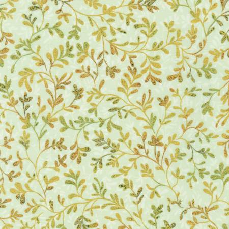 Leaf Vines w/Metallic - Fiorella by Robert Kaufman Fabrics