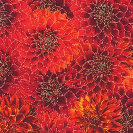 Flowers Scarlet Autumn w/Metallic