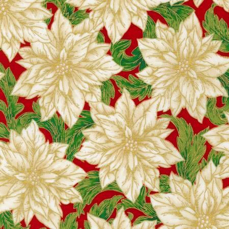Holiday Flourish 14 - Flower Red Christmas w/Metallic