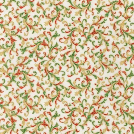Holiday Flourish 14 - Swirls Holiday Christmas w/Metallic