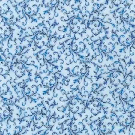 Holiday Flourish 14 19918-4 Blue Metallic