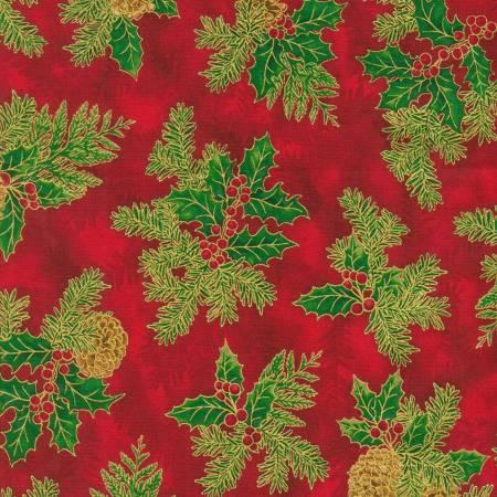 Holiday Flourish 14 - Holly Red Christmas w/Metallic