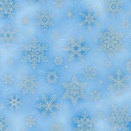 Snowflakes Sky Christmas w/Metallic
