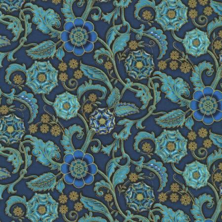 Persis - Floral Teal Blue