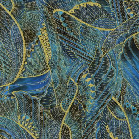 Persis - Feathers Teal Blue