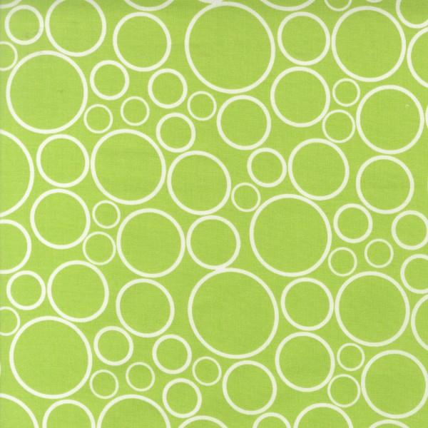 Chartreuse Circles 108in Wide