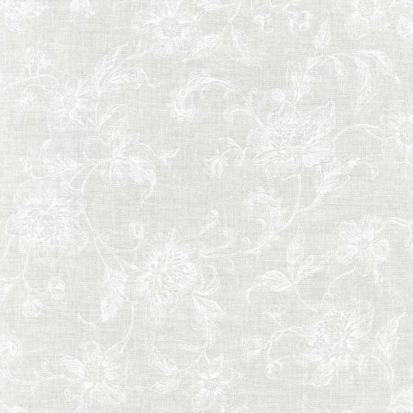 108  White  Floral Backing