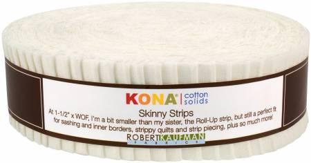 Skinny Strips Kona Solids Snow Colorway 40pcs 1 1/2in