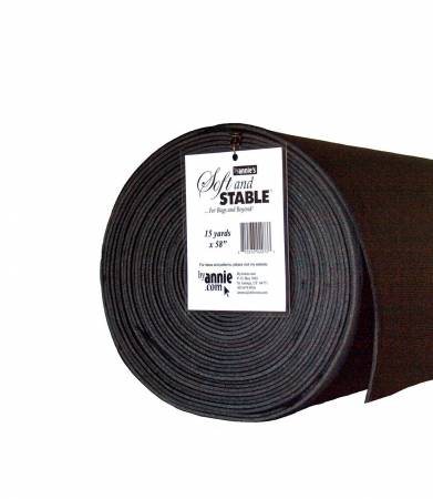 Soft and Stable Black 100% Polyester Stabilizer 58in x 15 Yards