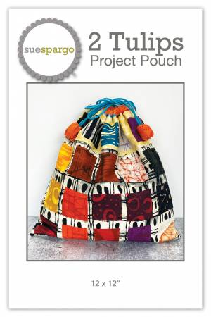 2 Tulips Project Pouch Pattern Sue Spargo