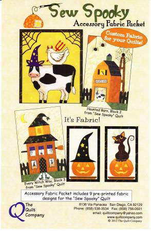 Sew Spooky Block of the Month Accessory Fabric Pack