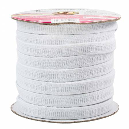 Polyester Flat Non-Roll Elastic 1/2in White