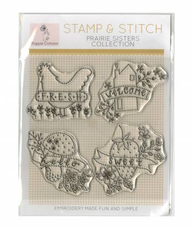 Stamp & Stitch/Prairie Sisters/Poppie Cotton