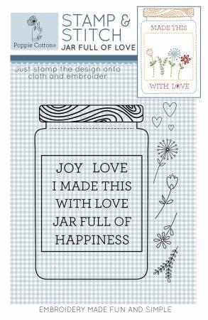 Rubber Stamp & Stitch Jar Full of Love Label