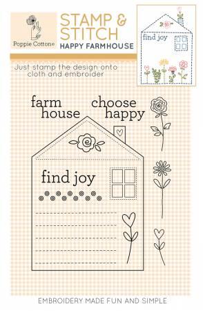 Rubber Stamp & Stitch Happy Farmhouse Label