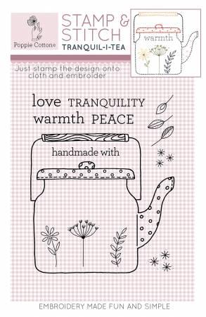 Rubber Stamp & Stitch Tranquil-i-tea Label