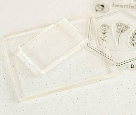 Acrylic Block Stamp & Stitch, 2 stamps (2x3 / 4x5 size)