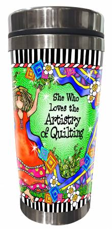 Quilt Artistry Stainless Steel Tumbler