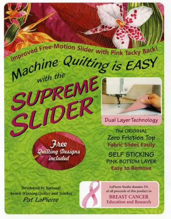 Supreme Slider - Free Motion Quilting Slider - 8.5 x 11