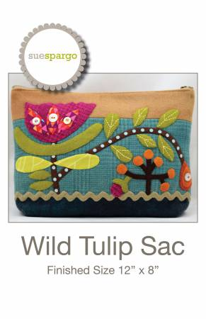 Wild Tulip Sac - 12 X 8 zippered sac - by Sue Spargo