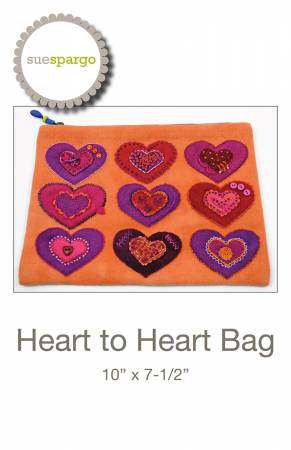 Heart to Heart Bag Pattern by Sue Spargo^