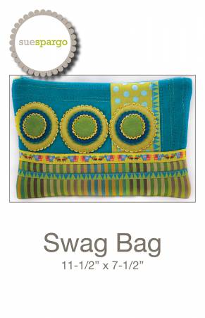 Swag Bag Pattern by Sue Spargo - 11 X 7