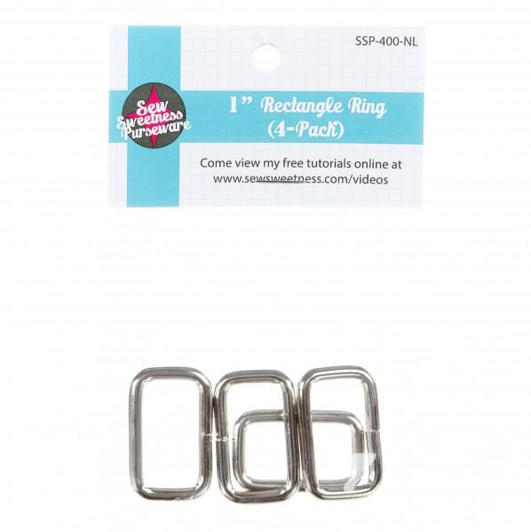 1in Rectangle Ring, 4-Pack