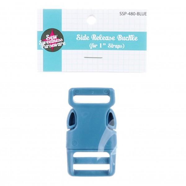 Side-Release Buckle Blue 1in