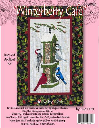 Winterberry Cafe Applique Wall Hanging Kit