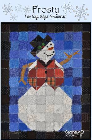 Frosty the Rag Edge Snowman