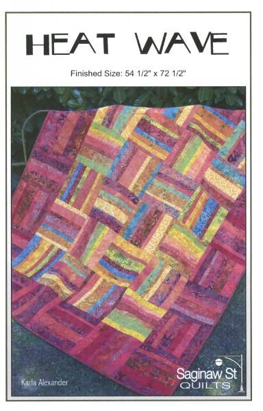 Saginaw St. Quilts, Heat Wave Pattern SSQ428