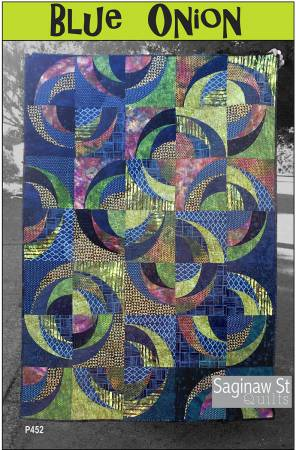 Blue Onion by Saginaw Street Quilts