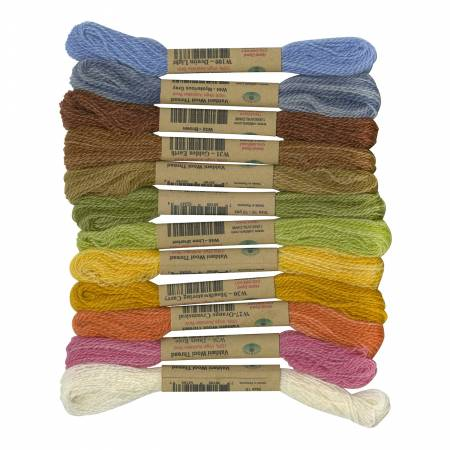 Thread Size 15 2ply Wool 12 Sk Sampler Soft Shades