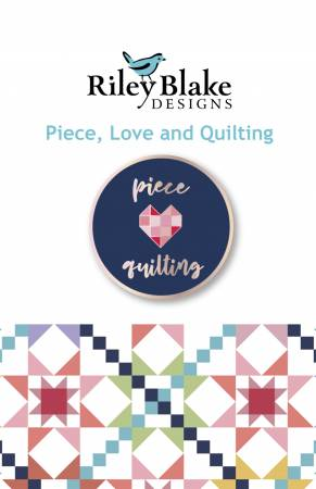 Piece Love and Quilting Enamel Pin