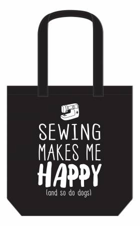 Sewing Makes Me Happy Canvas Tote Bag