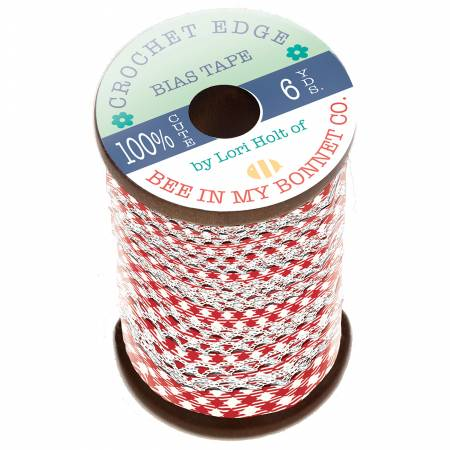 Lori Holt Crocheted Bias Tape In Color Red