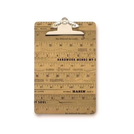 Stacy West Metal Small Ruler Clip Board