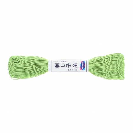 Olympus Sashiko Thread Yellowish Green 22 yd