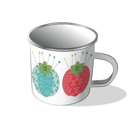 Lori Holt Stitch Enamel Mug
