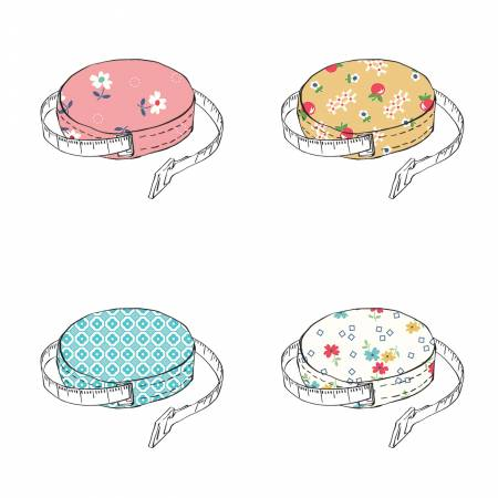 Fabric Covered Tape Measures Set of 24