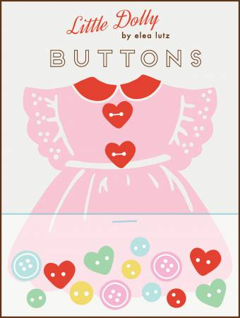 Little Dolly Dress Buttons by Elsa Lutz