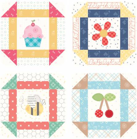 Lori Holt Bee Happy Coaster Set 4pc