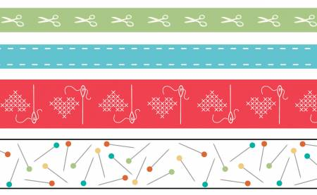 Lori Holt Washi Tape 4pk
