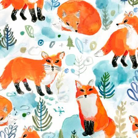 Dear Stella White Winter Foxes